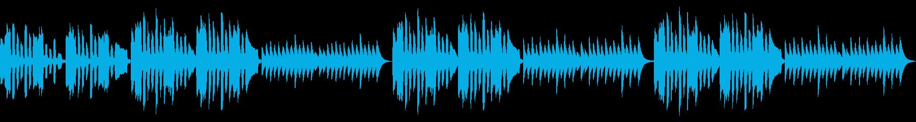 リコーダーとマリンバのコミカルなループ曲の再生済みの波形