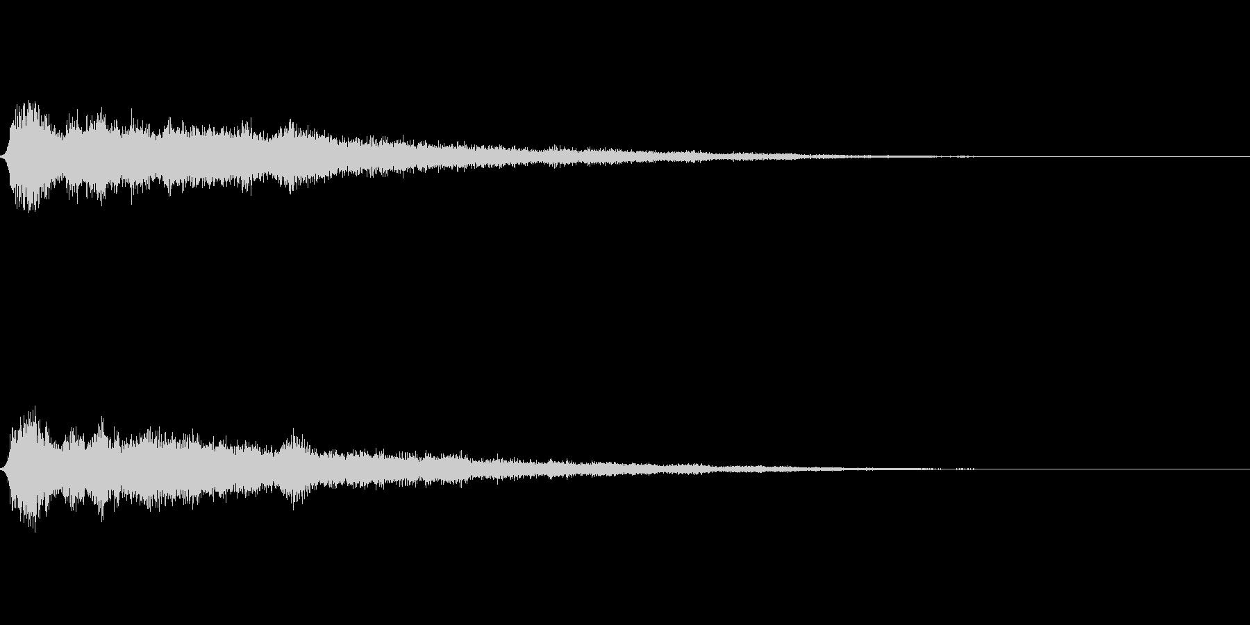 氷魔法01(冷気属性魔法)の未再生の波形