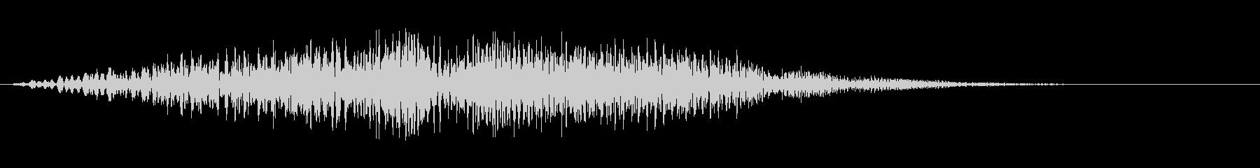 ヒュイッ_コミカルな投げる音の未再生の波形