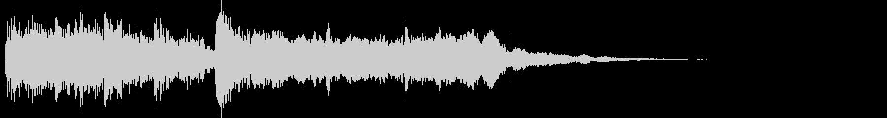 和風スタートクリック音ジングル効果音の未再生の波形