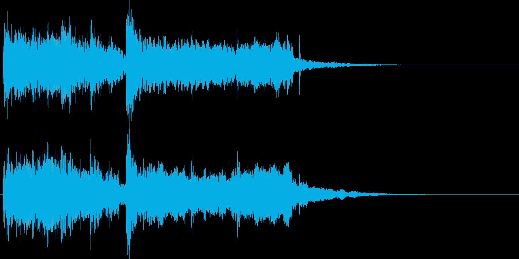 和風スタートクリック音ジングル効果音の再生済みの波形