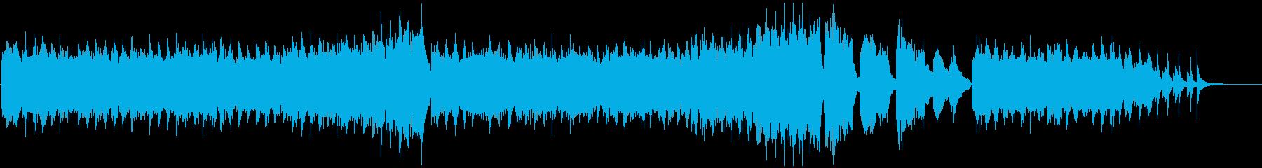 激しく流れるような、切迫したピアノの再生済みの波形