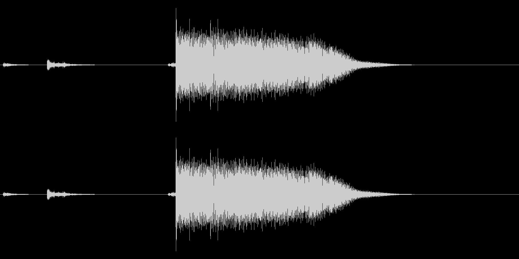 【生録音】ステンレス・スプーンの音 2の未再生の波形