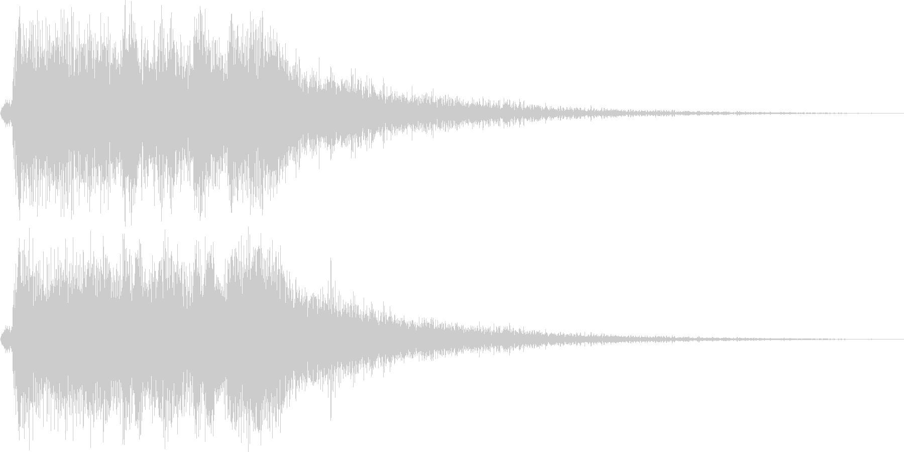 レベルアップっぽいファンファーレ3(短めの未再生の波形
