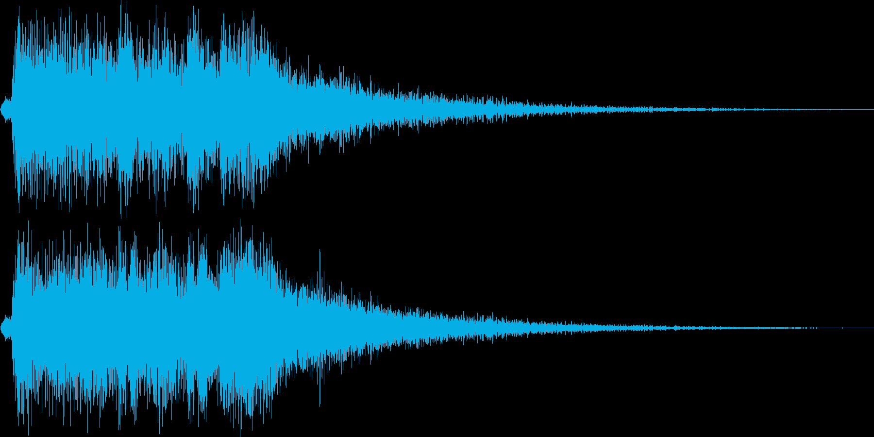 レベルアップっぽいファンファーレ3(短めの再生済みの波形