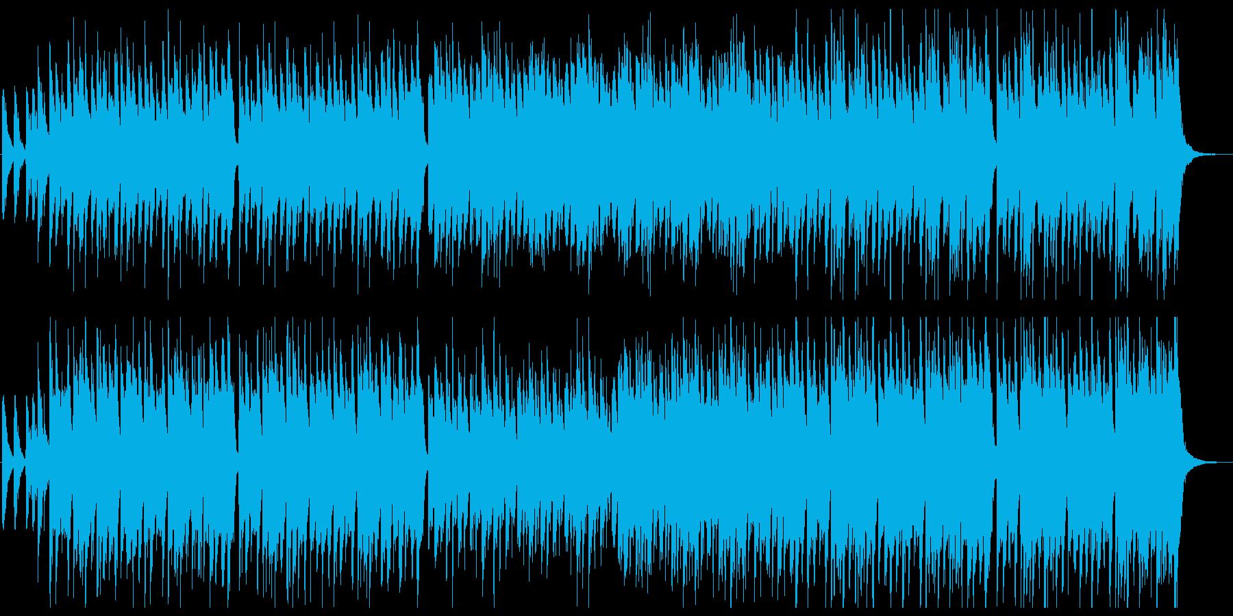 素朴な感じの箏・太鼓がメインの和風楽曲の再生済みの波形