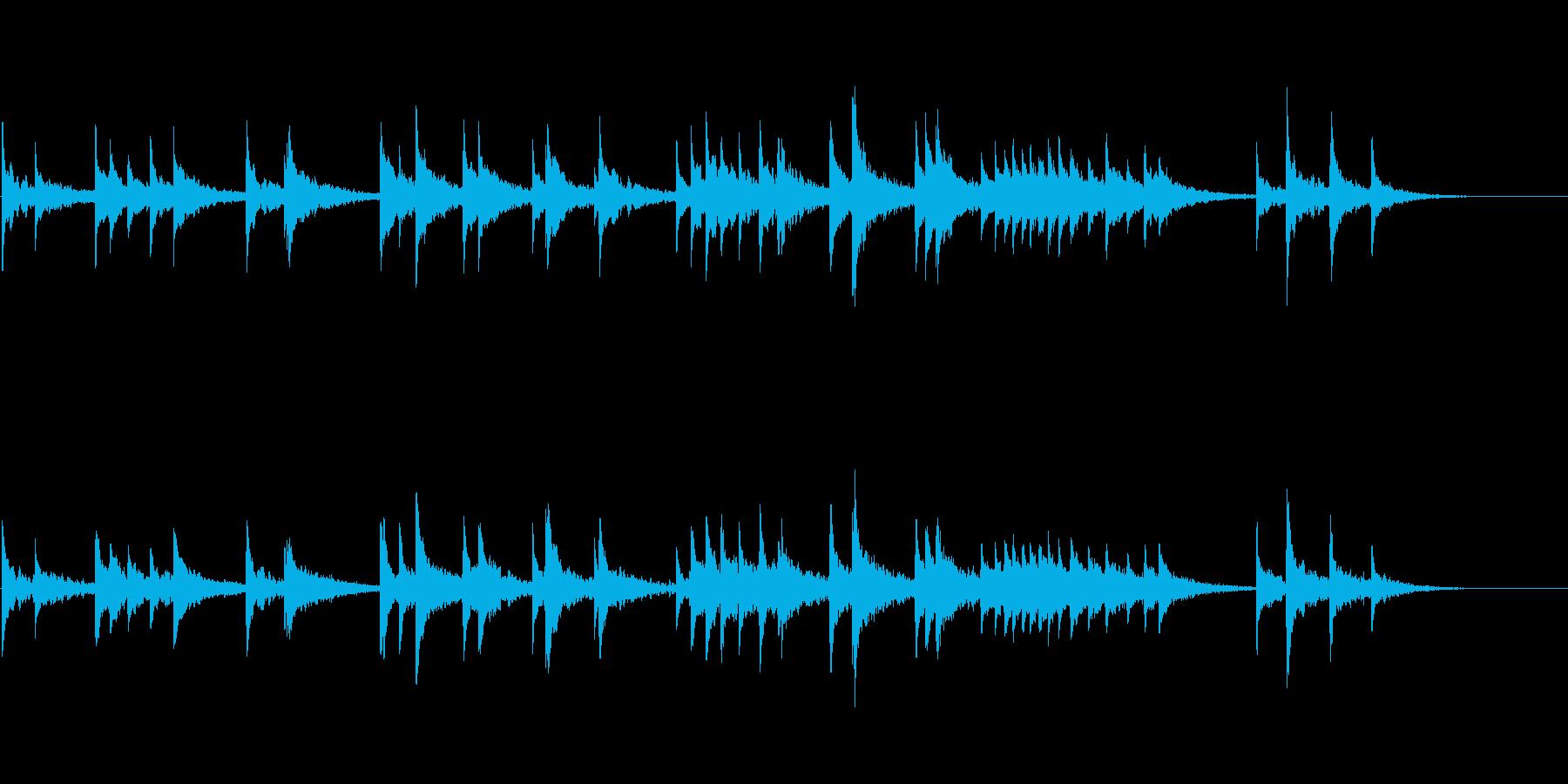 幻想的な響きを意識したお琴音源の再生済みの波形
