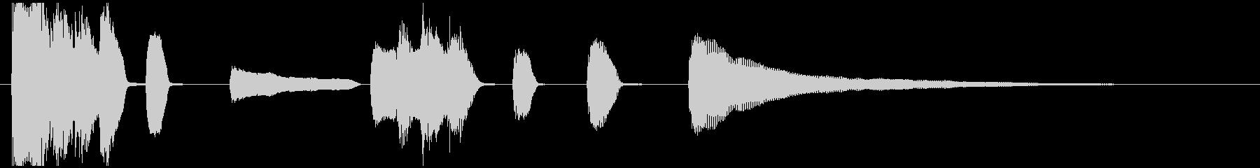 ピアノ・シンプル・ジングル・切り替えの未再生の波形