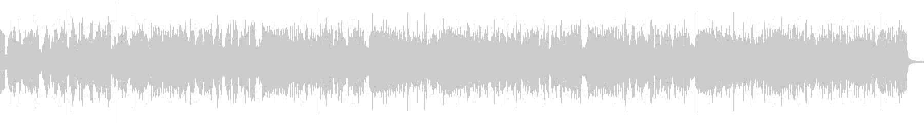 バンドサウンド激しいガレージロックBGMの未再生の波形