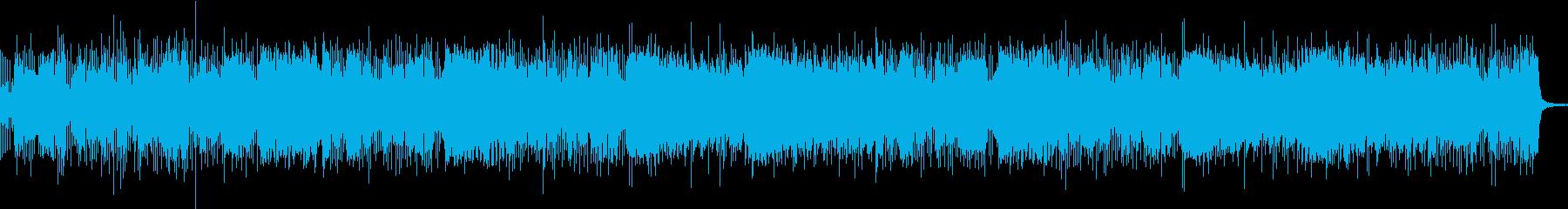 バンドサウンド激しいガレージロックBGMの再生済みの波形