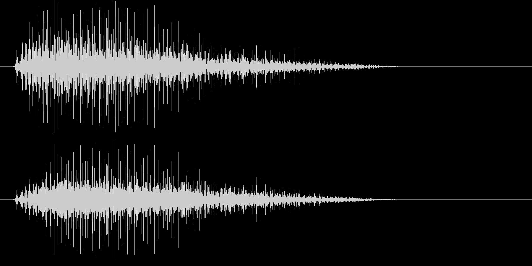 カラスの鳴き声(低め)の未再生の波形