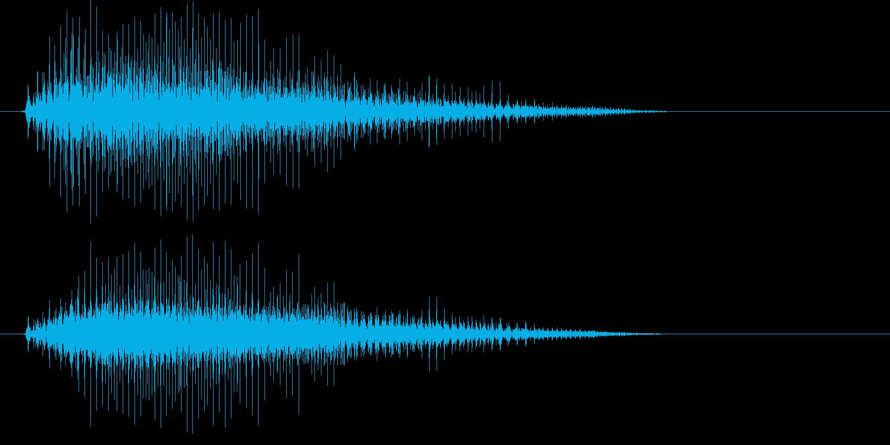 カラスの鳴き声(低め)の再生済みの波形