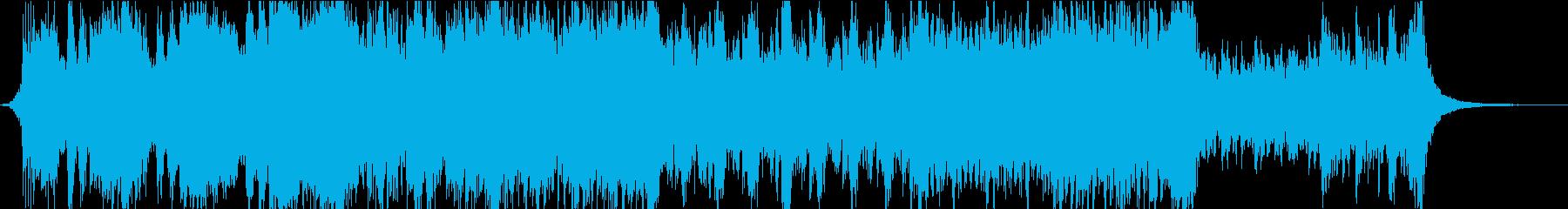 シューティングゲーム/戦闘/襲撃BGMの再生済みの波形