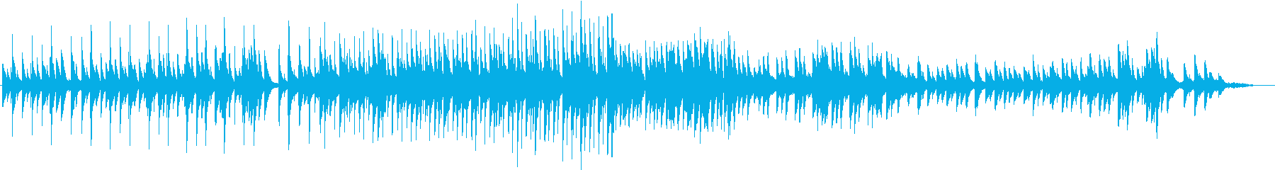 アニバーサルな雰囲気でピアノの曲の再生済みの波形