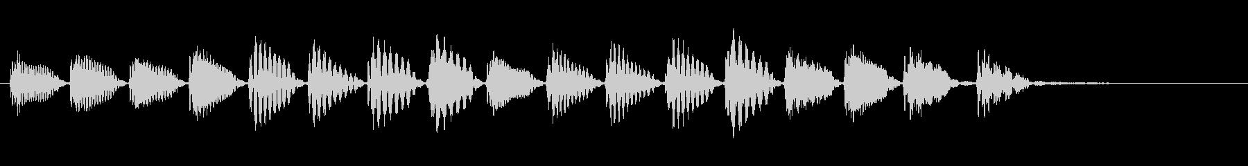 KANT 電子音アイキャッチ207312の未再生の波形