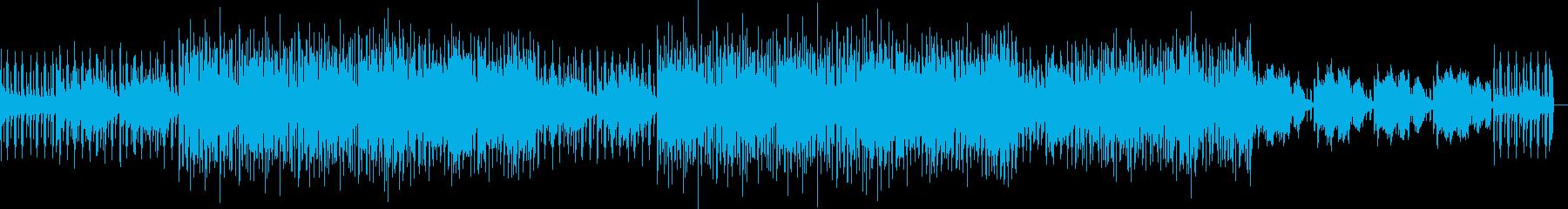 癒しとフックのあるエレクトロミュージックの再生済みの波形