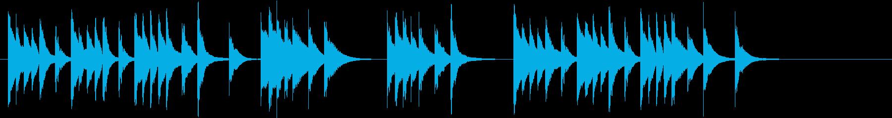 木琴の音で作ったほのぼのとしたジングルの再生済みの波形