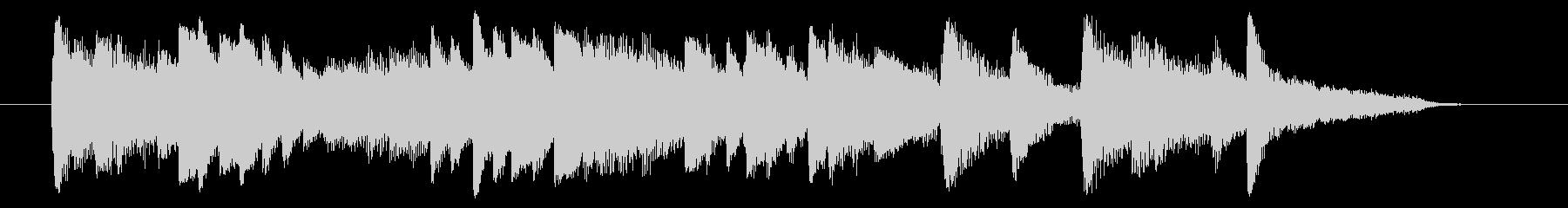 ピアノ主体のゆったりとしたジングル曲ですの未再生の波形