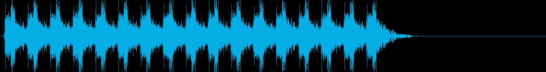 ドドドドドドドドド(銃声、連射)の再生済みの波形