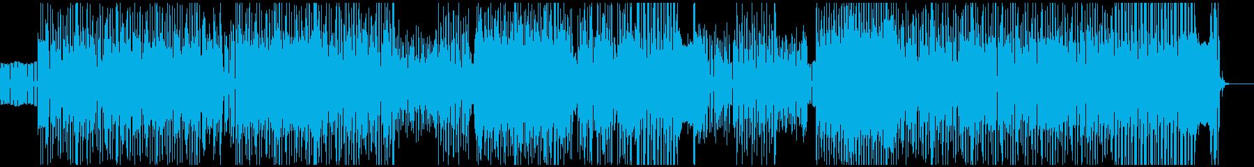 軽薄でテンション高めなラテン系ロックの再生済みの波形