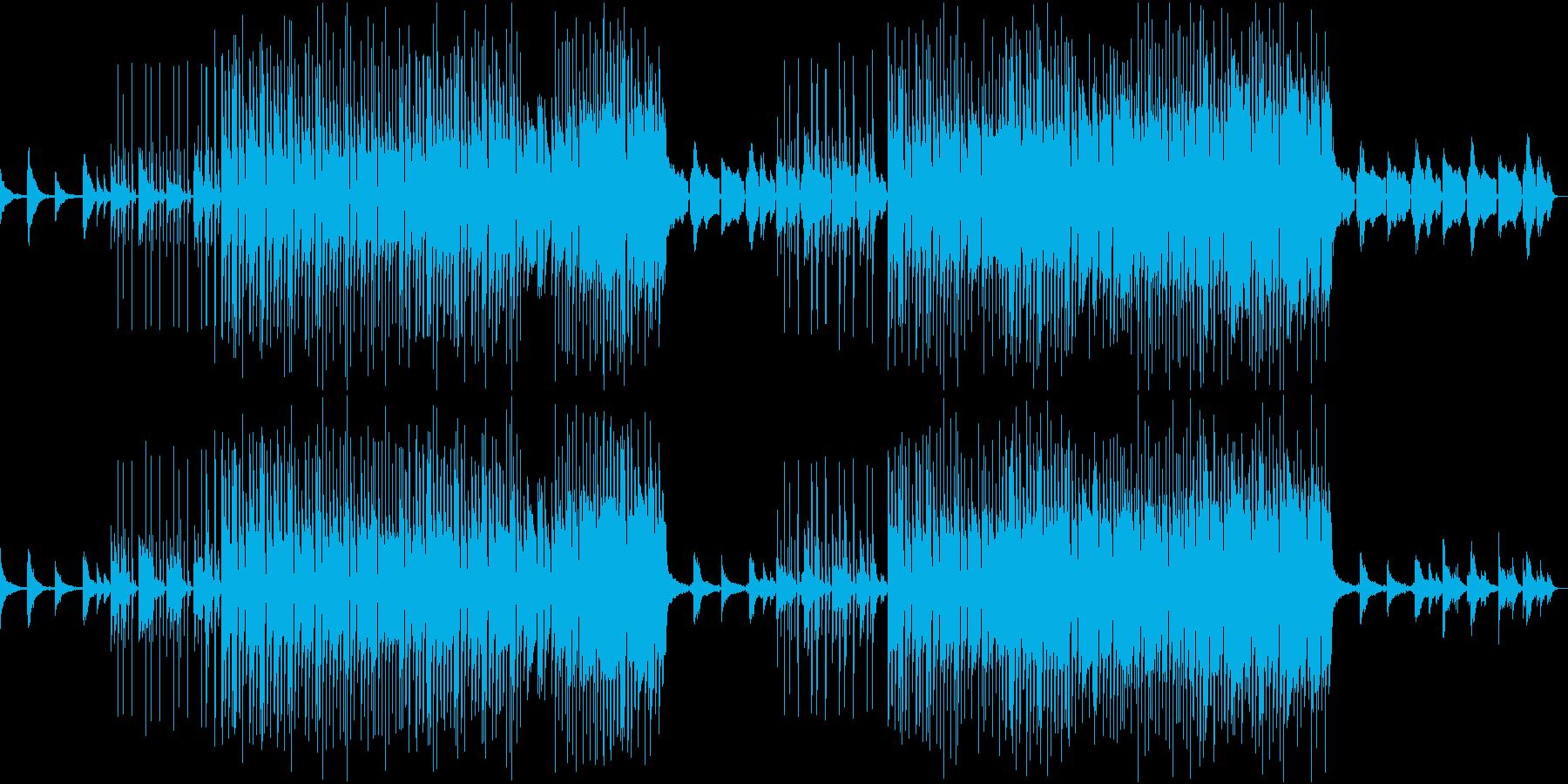 ピアノが優しいポップでチルLoFiビートの再生済みの波形