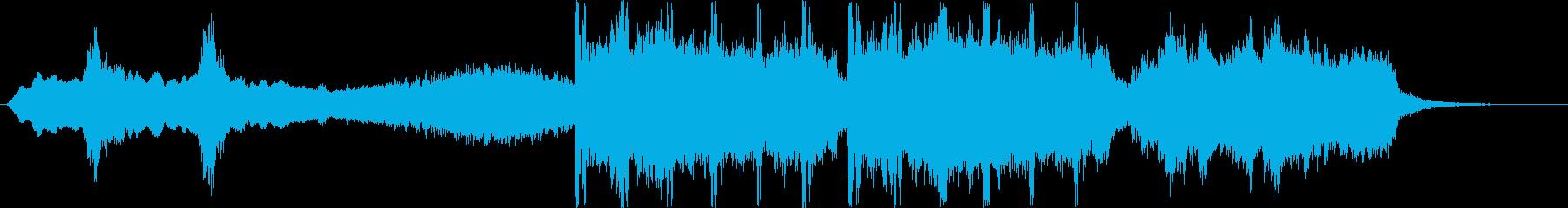不気味なシンセ・弦楽器など短めの再生済みの波形