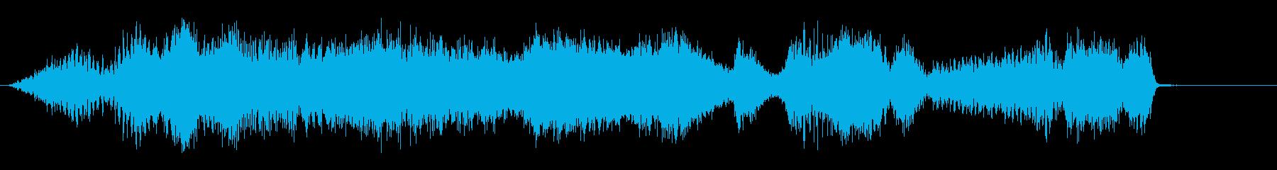 渦巻きの再生済みの波形