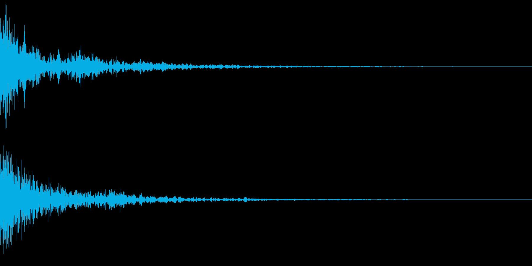 ドーッ(インパクト)の再生済みの波形