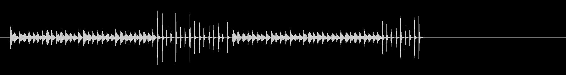 ログドラムとブロック。ランニング、...の未再生の波形