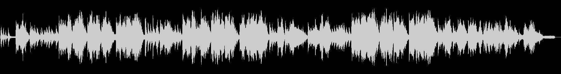 ピアノと鍵盤ハーモニカの童謡「ふるさと」の未再生の波形