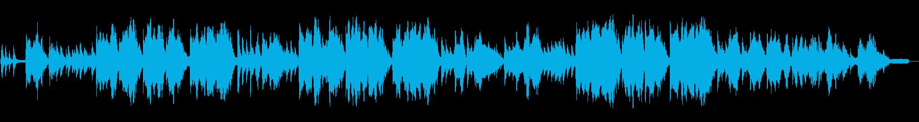 ピアノと鍵盤ハーモニカの童謡「ふるさと」の再生済みの波形