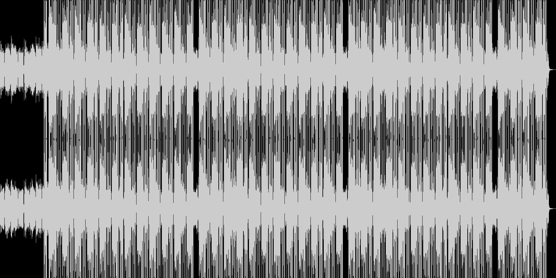 テンション高めイケイケHIPHOPビートの未再生の波形
