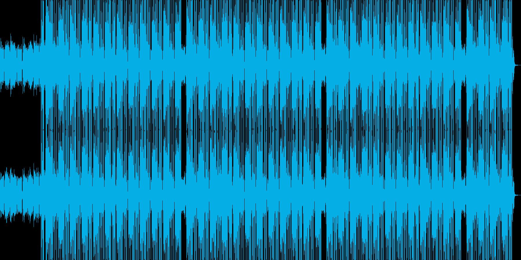 テンション高めイケイケHIPHOPビートの再生済みの波形