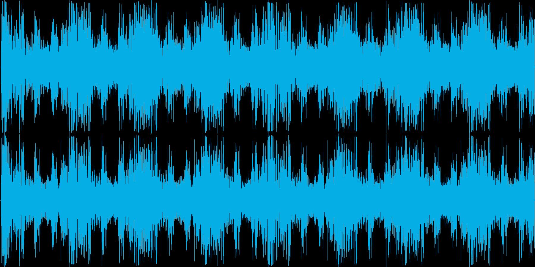 ミステリアスなパーカッションループBGMの再生済みの波形