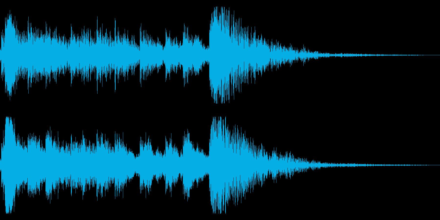 歌舞伎の太鼓/笛/鼓/和風ジングル!15の再生済みの波形