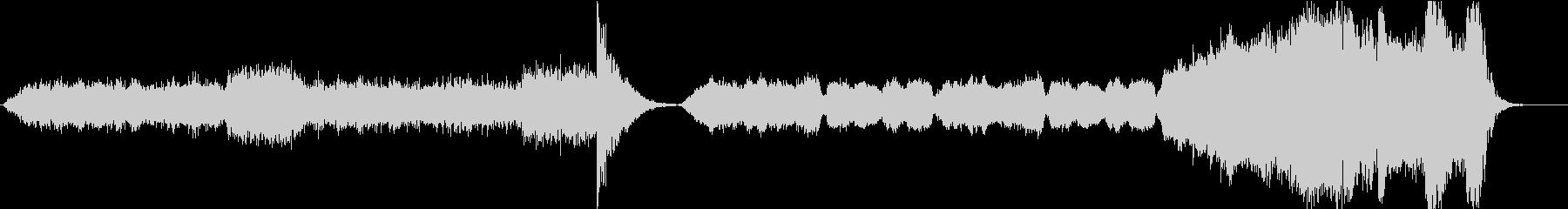凍りつく洋画風ホラーBGMの未再生の波形