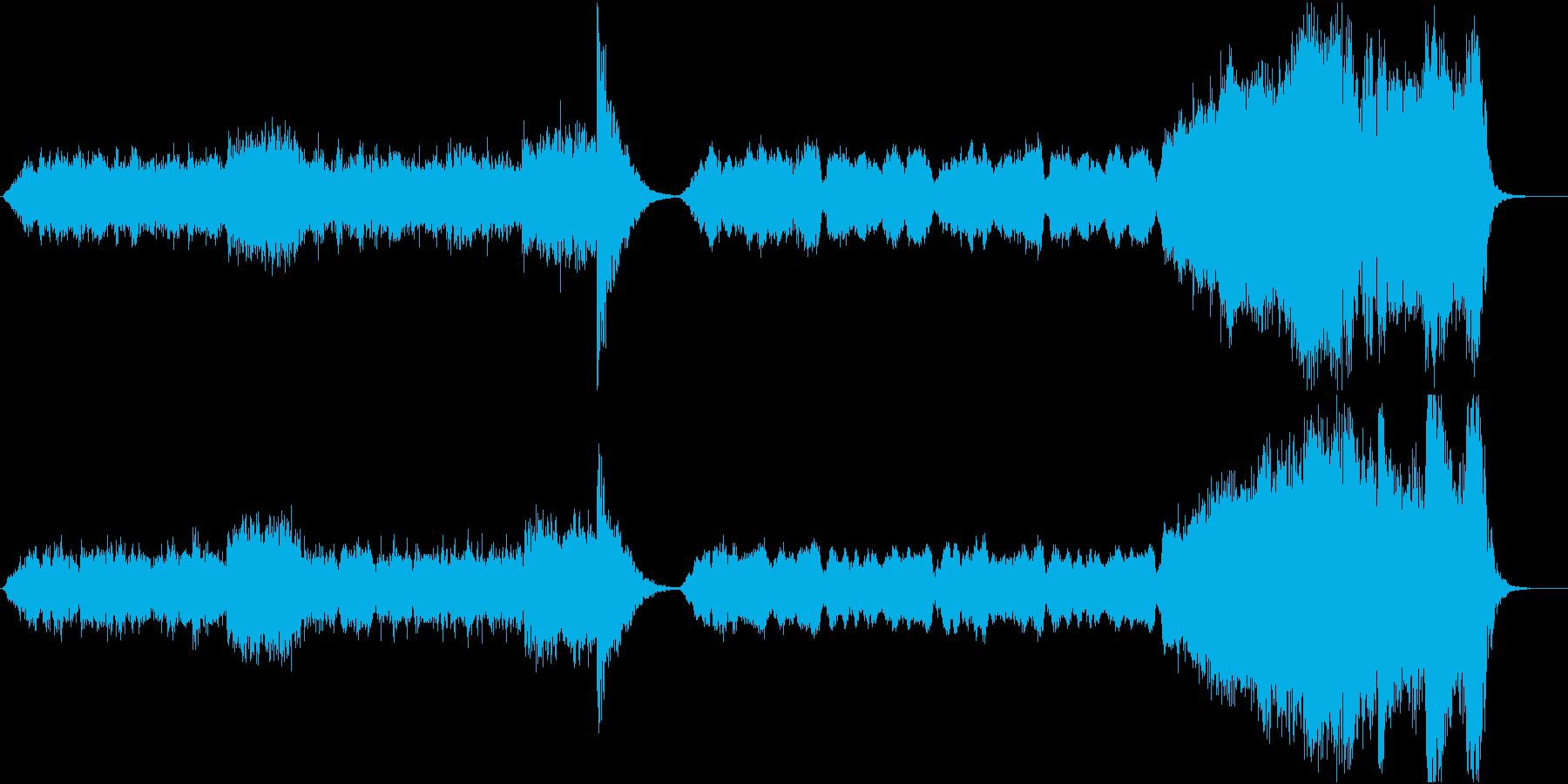 凍りつく洋画風ホラーBGMの再生済みの波形