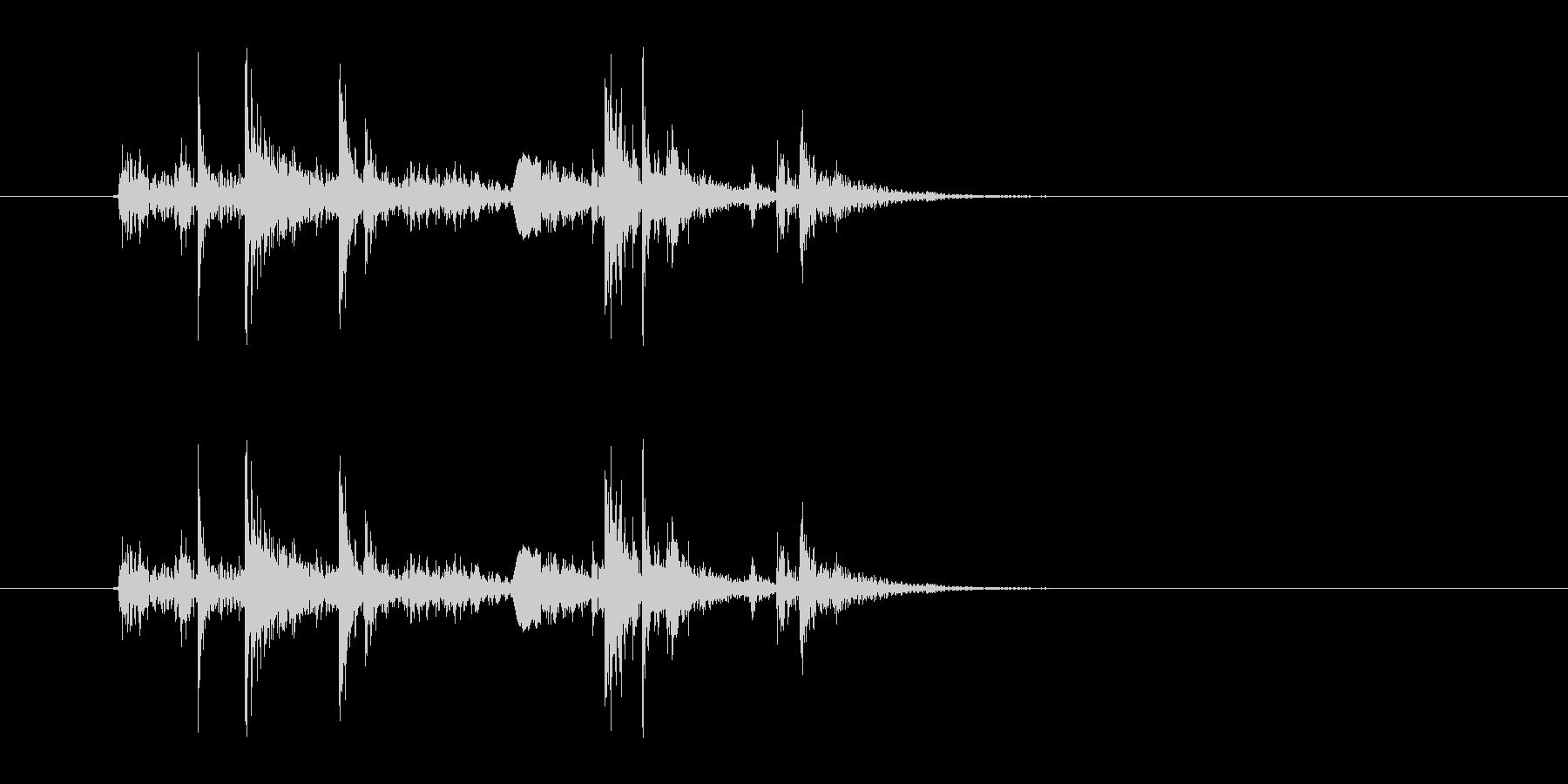 ガチャ(ドアの開閉音.04)の未再生の波形
