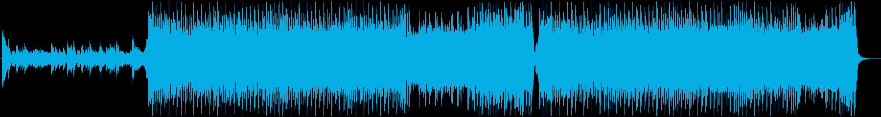 始まりを感じる4つ打ちストリングス曲の再生済みの波形