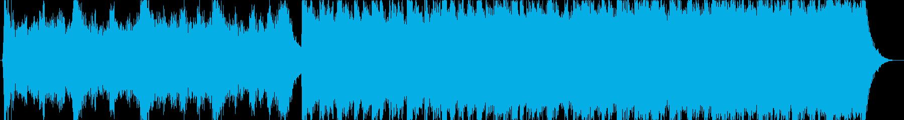 強力な英雄的なサウンドトラックの再生済みの波形