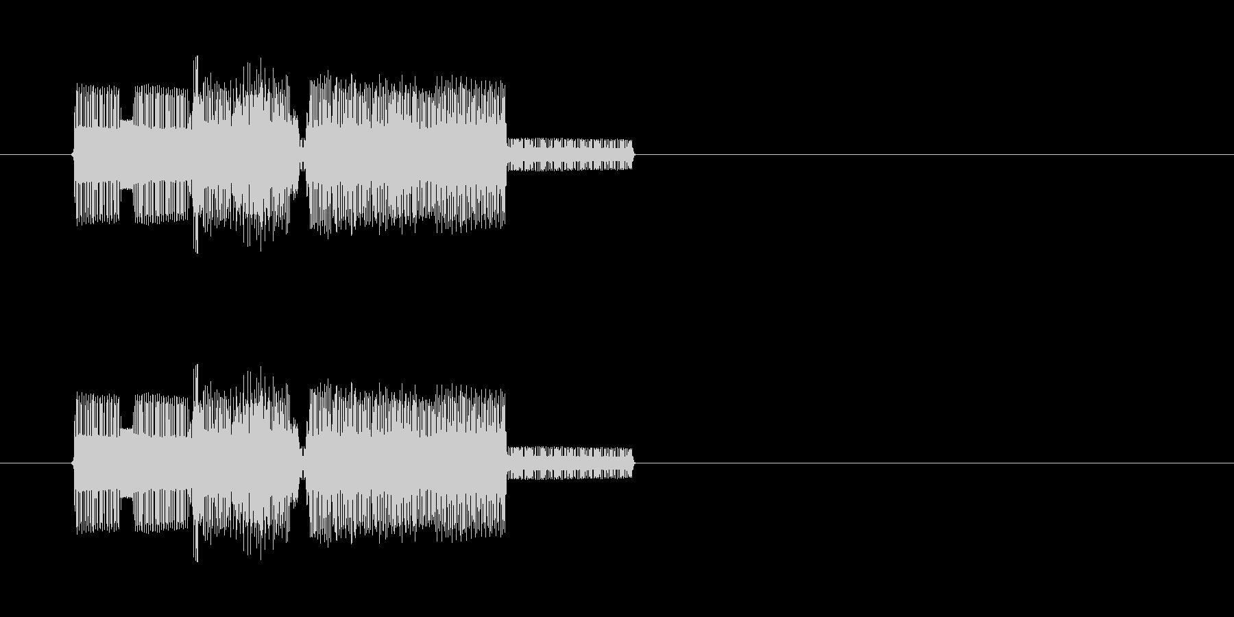 ファミコン風のレトロな音ですの未再生の波形