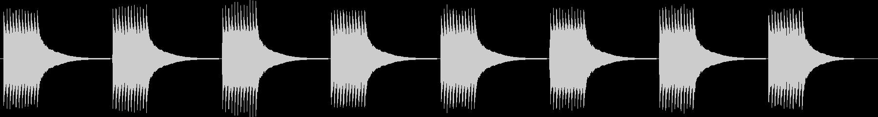 チリリ...。黒電話のベルB(長め)の未再生の波形