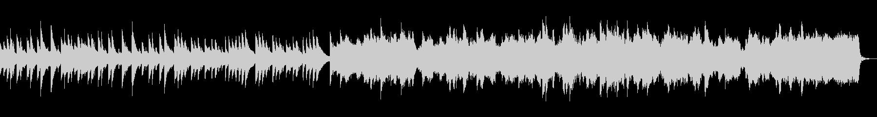 切ない、儚げなイメージのBGMの未再生の波形