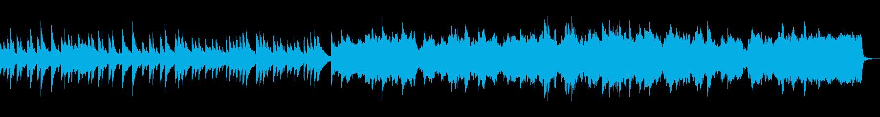切ない、儚げなイメージのBGMの再生済みの波形