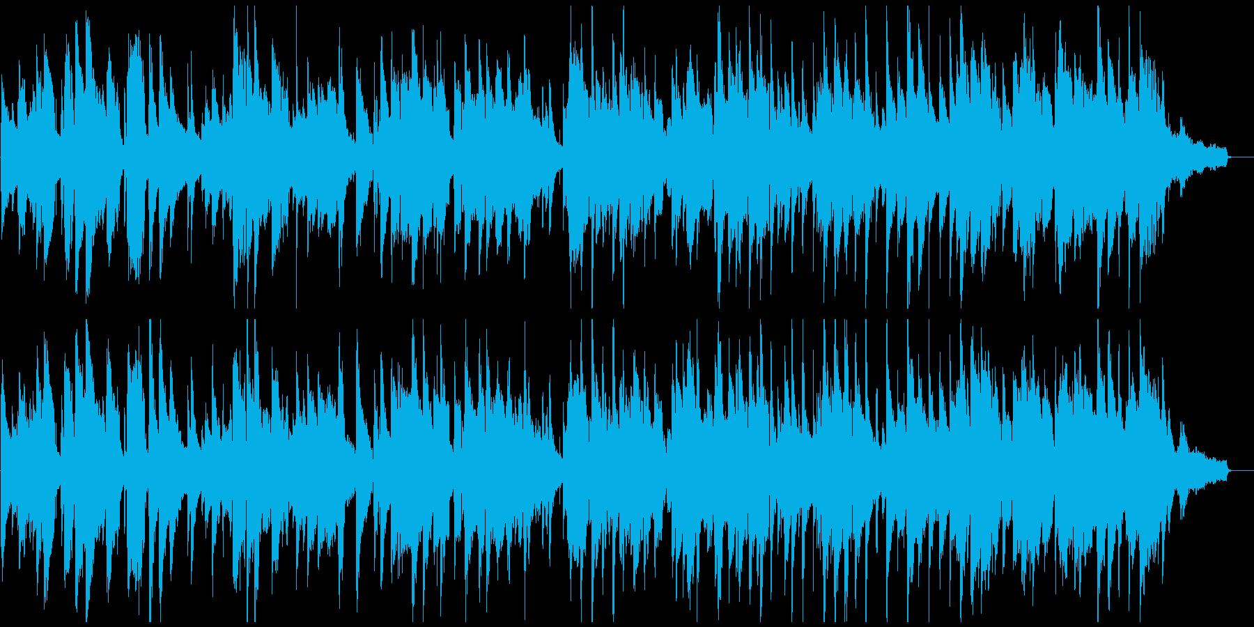 切ない大人のジャズ・バラード、夜景、バーの再生済みの波形