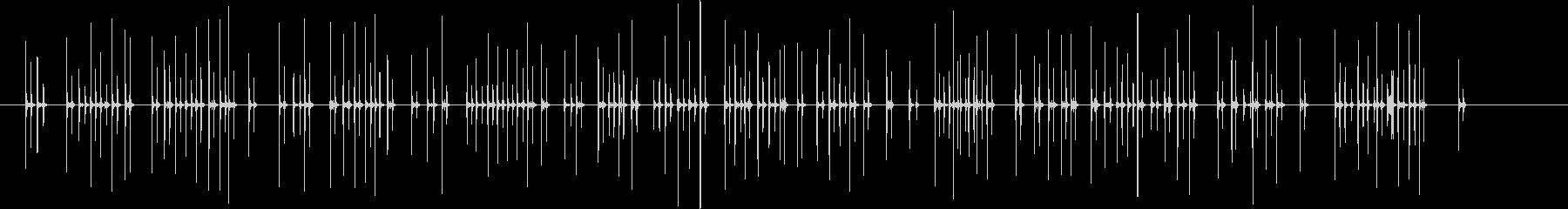 パソコンのキーボードを打つ音 25秒の未再生の波形