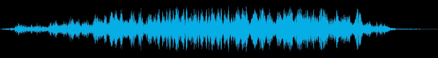 ウォーン(機械の音のような効果音)の再生済みの波形