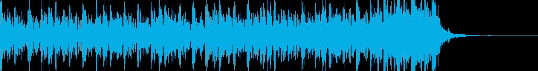 緊迫感のある不気味なハードテクノ15秒の再生済みの波形