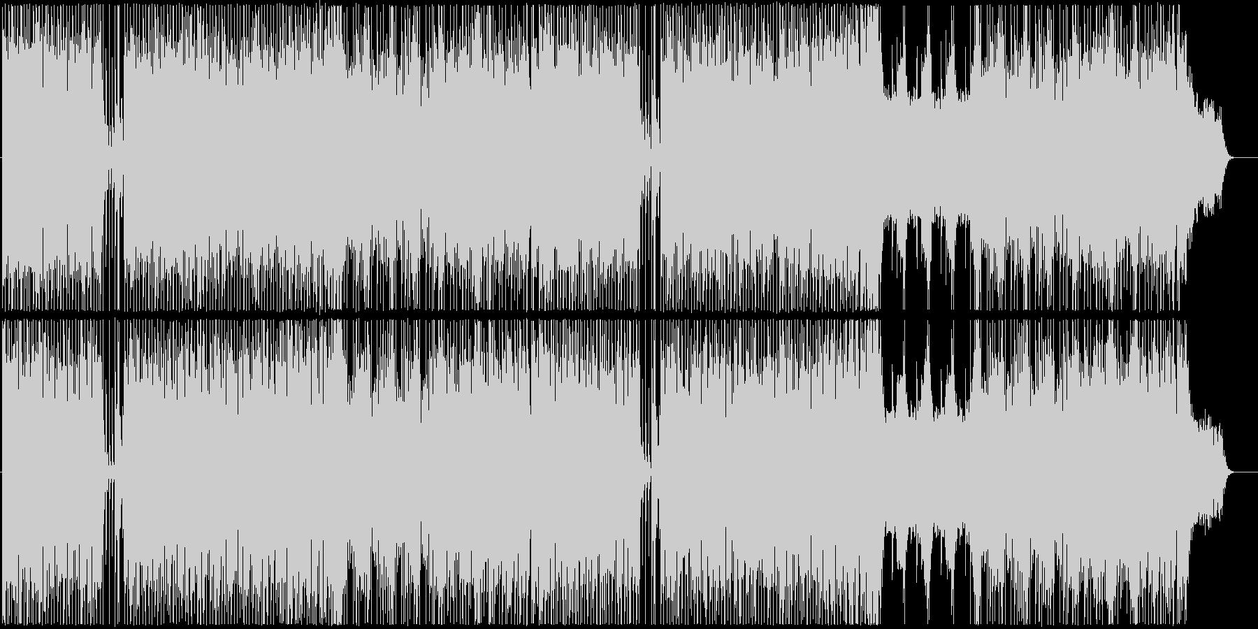 初々しさを感じるインスト曲の未再生の波形