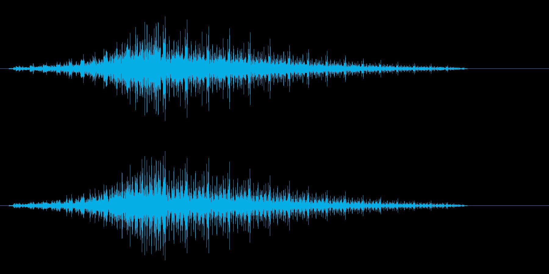 プシーッ シュイーン(高速移動音)の再生済みの波形